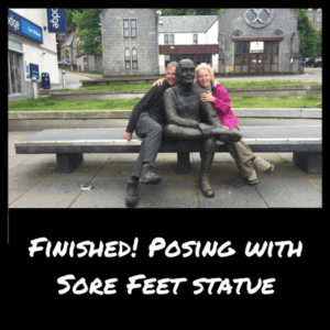 Sore Feet statue on the West Highland Way Scotland